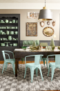 """<p>An eclectic mix of collectibles, vintage treasures, and plenty of bottle brush trees in various shades of green add color to the top of the dining table in <a href=""""https://www.countryliving.com/home-design/house-tours/g4929/farmhouse-packed-christmas-decorating-ideas/"""" rel=""""nofollow noopener"""" target=""""_blank"""" data-ylk=""""slk:this Midwest farmhouse"""" class=""""link rapid-noclick-resp"""">this Midwest farmhouse</a>. </p><p><a class=""""link rapid-noclick-resp"""" href=""""https://www.amazon.com/Uniprime-Christmas-Wooden-Holiday-Tabletop/dp/B07Z3CR1QY?tag=syn-yahoo-20&ascsubtag=%5Bartid%7C10050.g.644%5Bsrc%7Cyahoo-us"""" rel=""""nofollow noopener"""" target=""""_blank"""" data-ylk=""""slk:SHOP BOTTLE BRUSH TREES"""">SHOP BOTTLE BRUSH TREES</a></p>"""