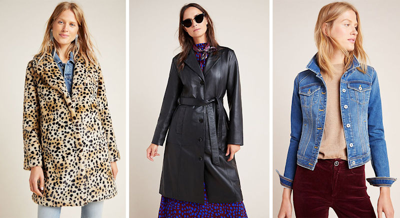 Shop Anthropologie's best outerwear with 20% off. [Photo: Anthropologie]