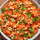 """<p>This carrot-and-raisin salad gets an upgrade with a slightly spicy, slightly sweet, and very addicting sauce. It brings out the sweet freshness of the <a href=""""https://www.delish.com/uk/cooking/recipes/a29571518/oven-roasted-carrots-recipe/"""" rel=""""nofollow noopener"""" target=""""_blank"""" data-ylk=""""slk:carrots"""" class=""""link rapid-noclick-resp"""">carrots</a> and makes the whole dish sing. We are tempted to pour it over all of our salads from here on out. </p><p>Get the <a href=""""https://www.delish.com/uk/cooking/recipes/a32998198/carrot-salad-recipe/"""" rel=""""nofollow noopener"""" target=""""_blank"""" data-ylk=""""slk:Moroccan Carrot Salad"""" class=""""link rapid-noclick-resp"""">Moroccan Carrot Salad</a> recipe.</p>"""