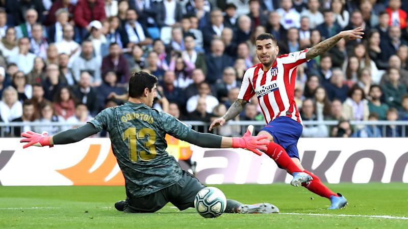 Angel Correa Thibaut Courtois Real Madrid Atletico LaLiga 01022020