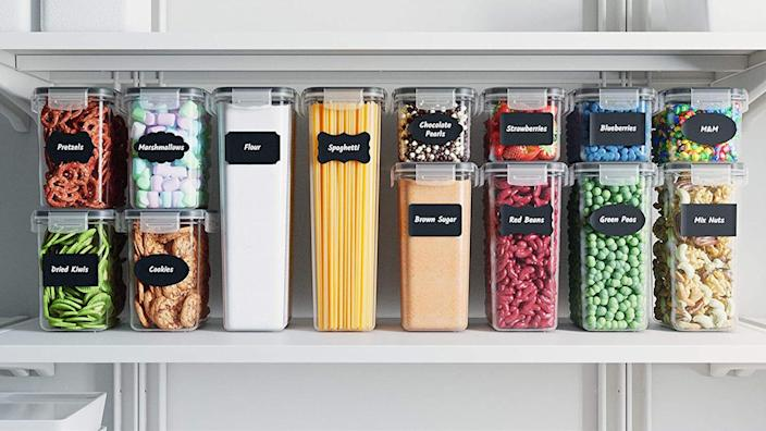 This 24-pack of Chef's Path food containers is beloved for keeping food fresh and adding style to cupboards.