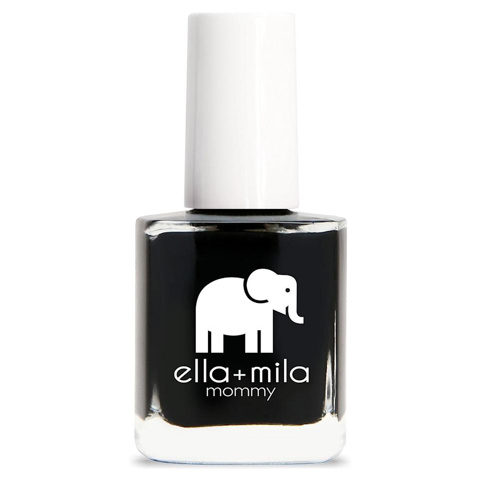 "<h3>Ella + Mila Lights Out</h3><br>Nail pro <a href=""https://www.instagram.com/michellesaundersjames/"" rel=""nofollow noopener"" target=""_blank"" data-ylk=""slk:Michelle Saunders"" class=""link rapid-noclick-resp"">Michelle Saunders</a> tells us her criteria for differentiating a good black polish from a bad one is the shine factor. ""The high shine of Lights Out by Ella + Mila reads super elegant on a manicure or <a href=""https://www.refinery29.com/en-us/fall-nail-polish-pedicure-colors-2018"" rel=""nofollow noopener"" target=""_blank"" data-ylk=""slk:pedicure"" class=""link rapid-noclick-resp"">pedicure</a>,"" she says.<br><br><strong>Ella + Mila</strong> Nail Polish in Lights Out, $, available at <a href=""https://go.skimresources.com/?id=30283X879131&url=https%3A%2F%2Fwww.ellamila.com%2Fproducts%2Fmommy-collection-lights-out"" rel=""nofollow noopener"" target=""_blank"" data-ylk=""slk:ella +mila"" class=""link rapid-noclick-resp"">ella +mila</a>"