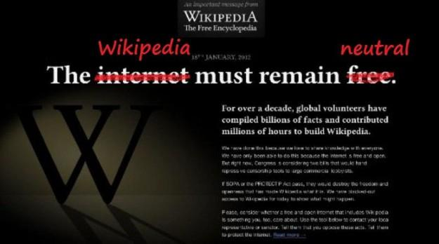 Wikipedia editors react: the SOPA blackout is wrong