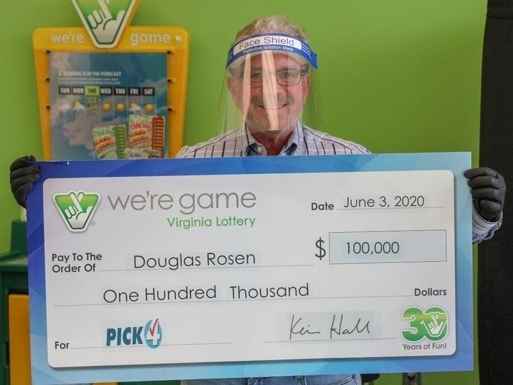 A Falls Church man won the lottery 20 times with the same numbers.