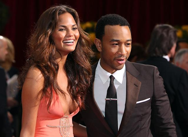 Teigen had the breast implants at the beginning of her career. (Getty Images)