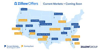 Zillow Offers Current and Coming Soon Markets