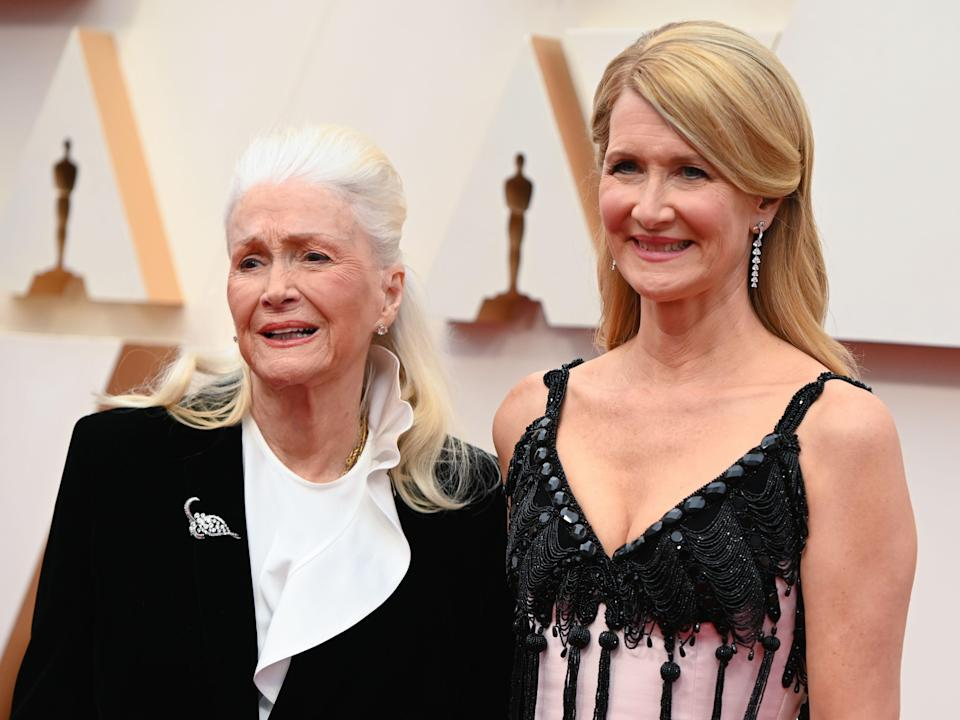 Laura Dern with her mother, actress Diane Ladd, at the Oscars.