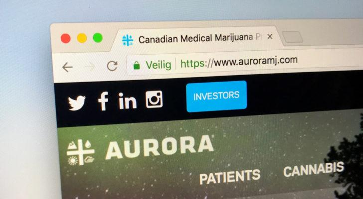 Does Aurora Cannabis Stock Chart Point to a Mid-Summer Plunge?