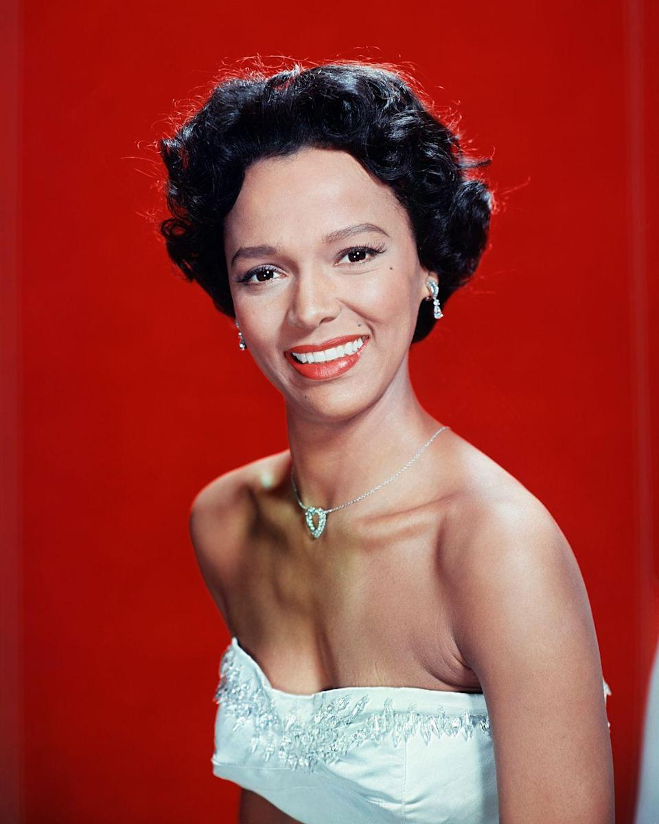 <p>There was something about Dandridge's look that captivated audiences, probably her signature curled hair and tangerine-hued lips.</p>