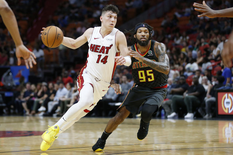 Yeah, it's just the preseason. But Tyler Herro's shot and scoring ability look ready-made for NBA success. (Getty)