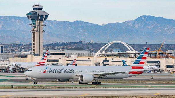 PHOTO: An American Airlines flight arrives at Los Angeles international Airport on Jan. 13, 2021. (Bauer-Griffin via Getty Images, FILE)