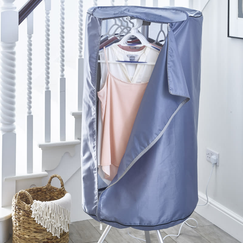 The Drying Pod can hang up to 12 garments and keeps your undies out of view from guests too. (Lakeland)
