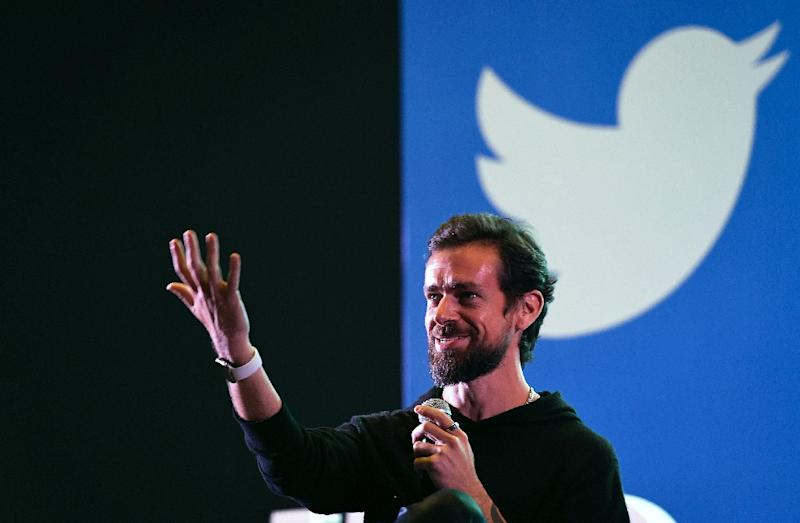 CEO Jack Dorsey said a strong quarterly profit report shows Twitter is making progress in rooting out abusive and hateful content on the messaging platform (AFP Photo/Prakash SINGH)