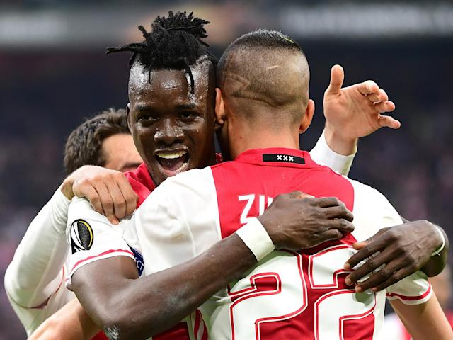 Bertrand Traore's brace put Ajax in a commanding position: Getty