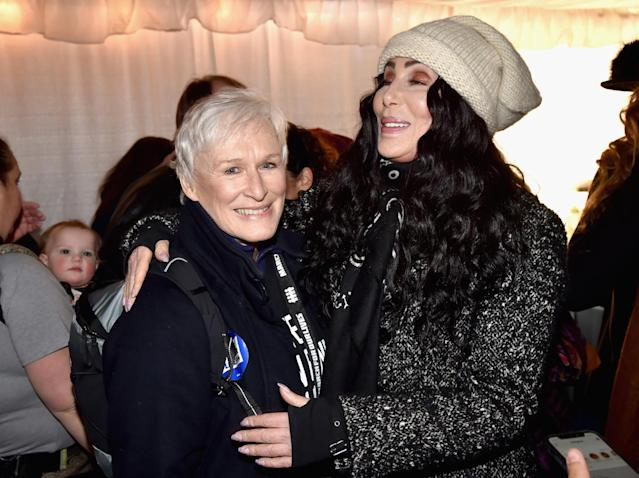 <p>Glenn Close and Cher attend March For Our Lives in Washington, D.C. (Photo: Getty Images) </p>