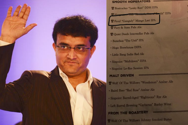 Did You Know? In Australia, a Beer is Named After Sourav Ganguly