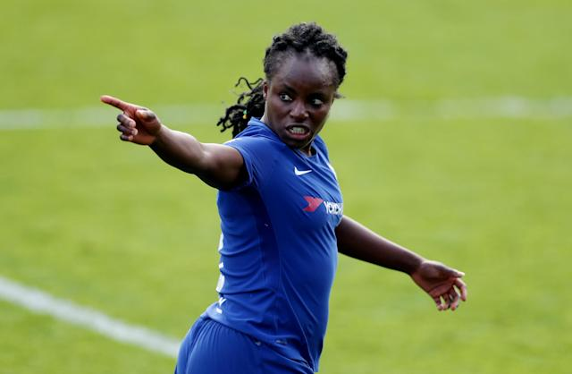 Soccer Football - Women's FA Cup Semi Final - Chelsea vs Manchester City - The Cherry Red Records Stadium, London, Britain - April 15, 2018 Chelsea's Eniola Aluko Action Images/Peter Cziborra