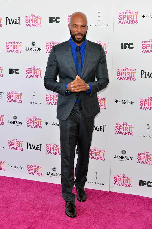 SANTA MONICA, CA - FEBRUARY 23:  Actor/musician Common attends the 2013 Film Independent Spirit Awards at Santa Monica Beach on February 23, 2013 in Santa Monica, California.  (Photo by Alberto E. Rodriguez/Getty Images)