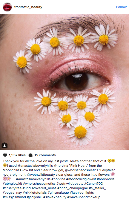 Floral Eye Makeup on Instagram Takes the Spring Trend Literally