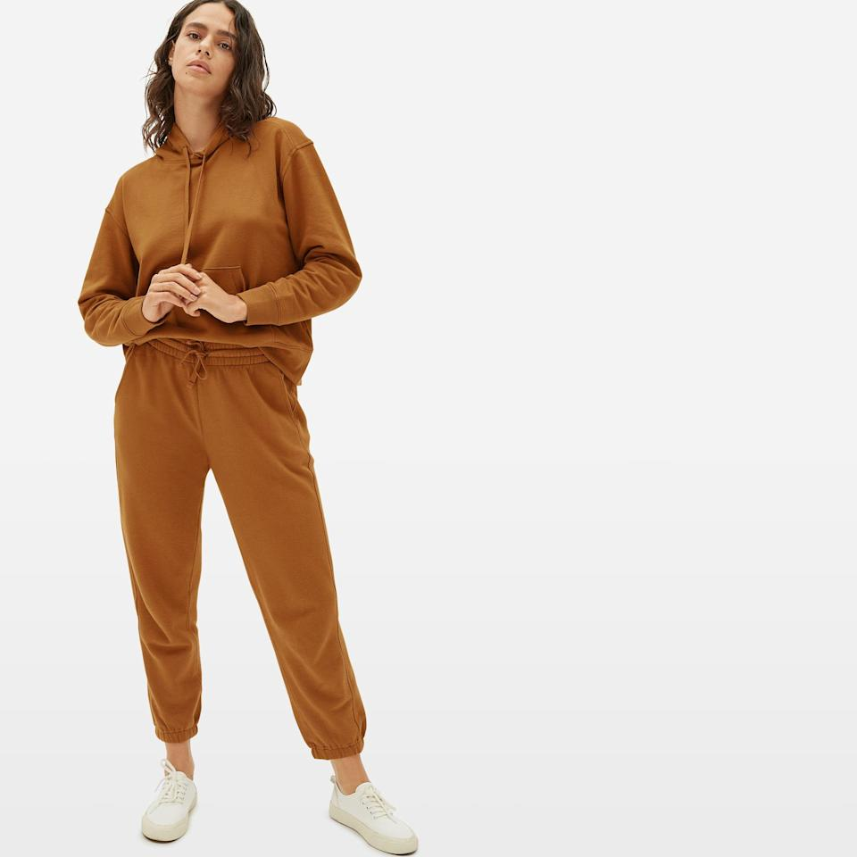 "<h3><a href=""https://www.everlane.com/"" rel=""nofollow noopener"" target=""_blank"" data-ylk=""slk:Everlane"" class=""link rapid-noclick-resp"">Everlane</a></h3><br>These sweat sets are one of the newest additions to Everlane's collection of must-have basics. They're made in lightweight french terry and come in 3 neutral colors, making them perfect for layering in the fall and winters<br><br><strong>Everlane</strong> The Lightweight French Terry Hoodie, $, available at <a href=""https://go.skimresources.com/?id=30283X879131&url=https%3A%2F%2Fwww.everlane.com%2Fproducts%2Fwomens-lt-french-terry-hoodie-cider"" rel=""nofollow noopener"" target=""_blank"" data-ylk=""slk:Everlane"" class=""link rapid-noclick-resp"">Everlane</a><br><br><strong>Everlane</strong> The Lightweight French Terry Jogger, $, available at <a href=""https://go.skimresources.com/?id=30283X879131&url=https%3A%2F%2Fwww.everlane.com%2Fproducts%2Fwomens-lt-french-terry-jogger-cider"" rel=""nofollow noopener"" target=""_blank"" data-ylk=""slk:Everlane"" class=""link rapid-noclick-resp"">Everlane</a>"