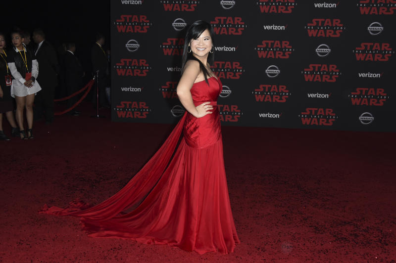 The Latest: Stormtroopers, droids start 'Last Jedi' carpet