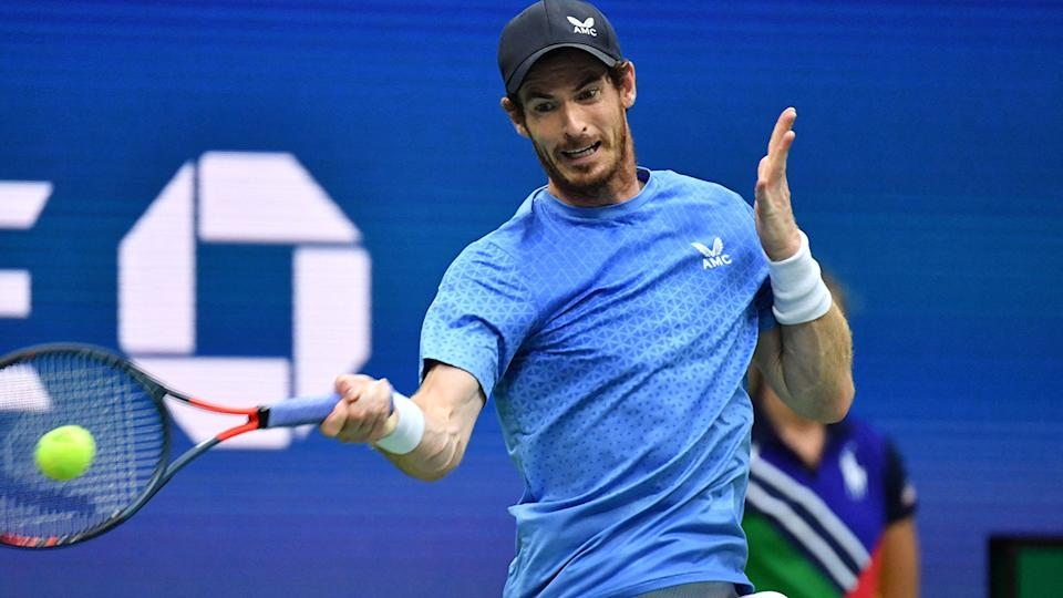 Andy Murray, pictured here in action against Stefanos Tsitsipas at the US Open.