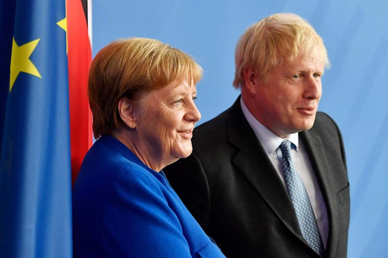 German Chancellor Angela Merkel and British Prime Minister Boris Johnson: AFP/Getty Images