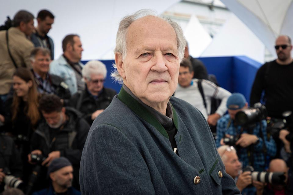 Director Werner Herzog poses for photographers at the photo call for the film 'Family Romance' at the 72nd international film festival, Cannes, southern France, Sunday, May 19, 2019. (Photo by Vianney Le Caer/Invision/AP)