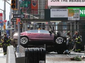 Times Square crash: one dead and 22 injured after car ploughs into pedestrians in New York