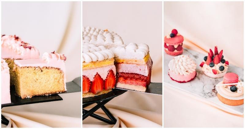From left to right: Classic Sugee Cake, Wonderlust dessert, Mother's Day Afternoon Tea bakes. Photos: Ariff Communications