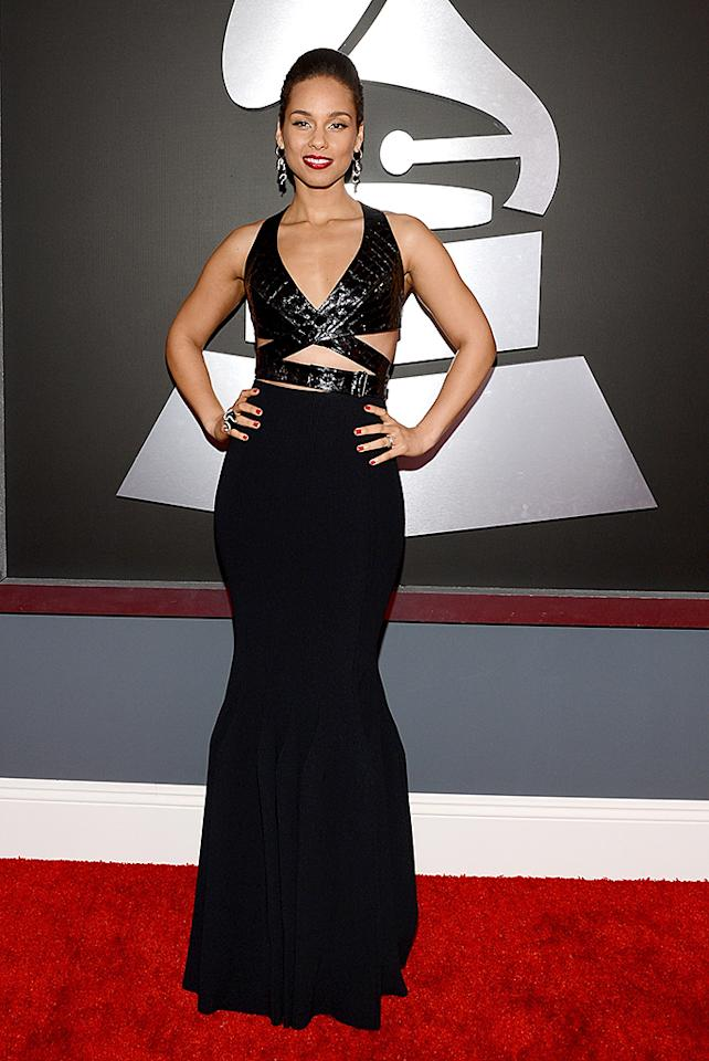 LOS ANGELES, CA - FEBRUARY 10:  Singer Alicia Keys  attends the 55th Annual GRAMMY Awards at STAPLES Center on February 10, 2013 in Los Angeles, California.  (Photo by Larry Busacca/WireImage)