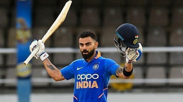 Virat Kohli scored an unbeaten 59 against Australia at Melbourne in January 2016