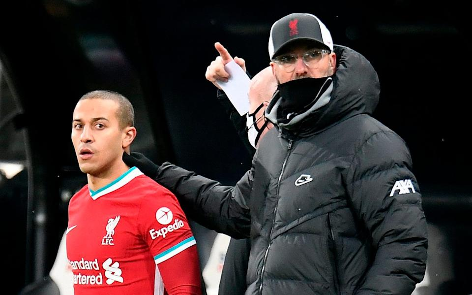 Jurgen Klopp, who welcomed back Thiago Alcantara back, said he was happy with the performance at St James Park - AFP