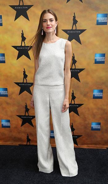 <p>No better way to celebrate summer than by seeing a Broadway play and wearing head-to-toe white, as Allison Williams did on Thursday night. She paired the matching separates with pale pink teardrop earrings and a statement hot pink lip.</p>