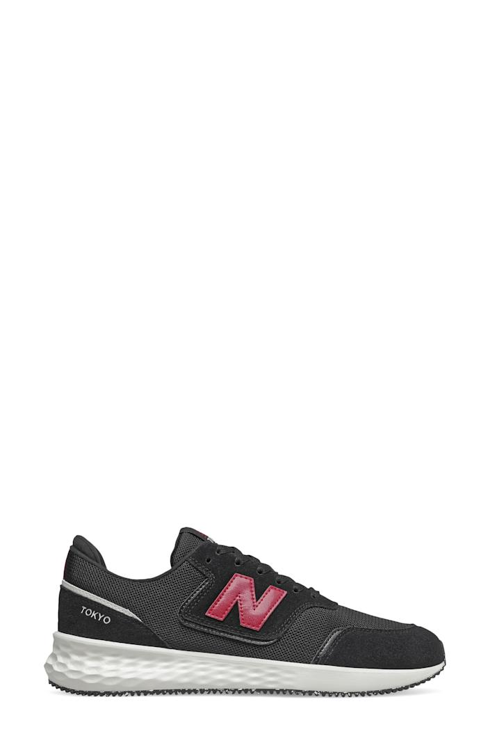 """<p><strong>NEW BALANCE</strong></p><p>nordstrom.com</p><p><a href=""""https://go.redirectingat.com?id=74968X1596630&url=https%3A%2F%2Fwww.nordstrom.com%2Fs%2Fnew-balance-fresh-foam-x-70-sneaker-men%2F5955974&sref=https%3A%2F%2Fwww.bestproducts.com%2Ffitness%2Fg37158206%2Fnordstroms-anniversary-sale-best-sneakers%2F"""" rel=""""nofollow noopener"""" target=""""_blank"""" data-ylk=""""slk:BUY IT HERE"""" class=""""link rapid-noclick-resp"""">BUY IT HERE</a></p><p><del>$75</del><del><br></del><strong>$49.90</strong><strong><strong><br></strong></strong></p><p>Trust us, New Balance's Fresh Foam X-70 sneakers will have you feeling like you're walking (or running) on cloud nine. Not only is the Fresh Foam sole comfortable, but this style also has padding in the tongue and around the heel for good measure.<br></p>"""