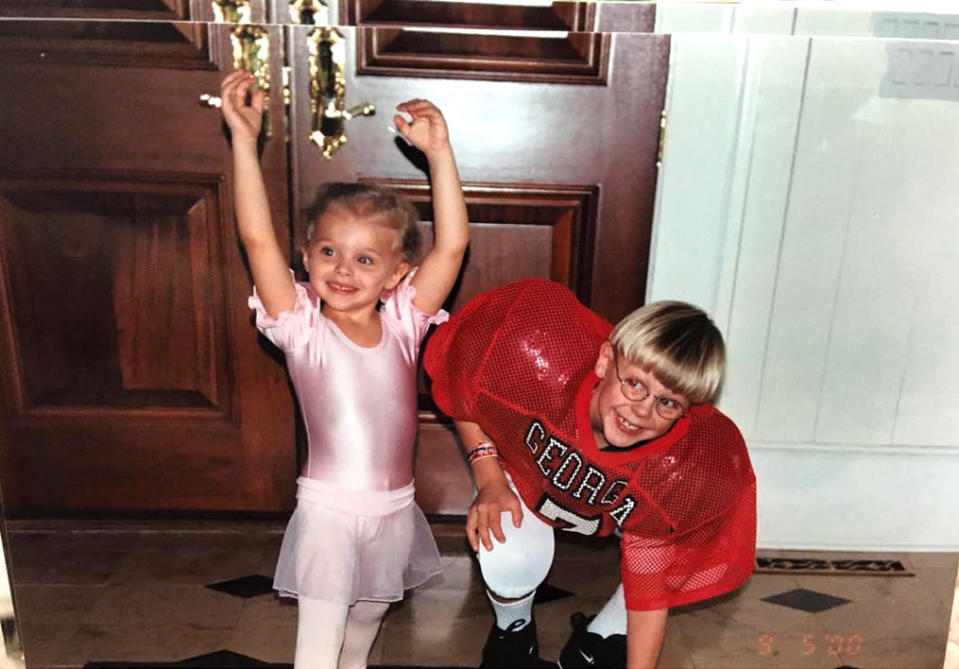 """<p><i>Kick Ass</i> actress Chloe Grace Moretz with her brother Ethan: """"Really trying to figure out our future careers.. @ethanmoretz #tbt"""" -<a href=""""https://www.instagram.com/p/BBX8BS6DnUy/?taken-by=chloegmoretz"""" rel=""""nofollow noopener"""" target=""""_blank"""" data-ylk=""""slk:@chloegmoretz"""" class=""""link rapid-noclick-resp"""">@chloegmoretz</a> (Instagram)<br></p>"""