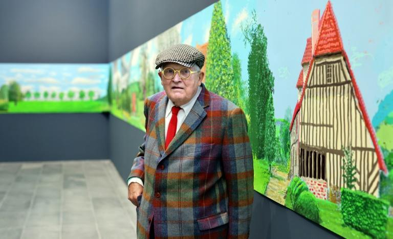 The dazzling colours of the Normandy countryside are a perfect fit for Hockney (AFP/Thomas COEX)