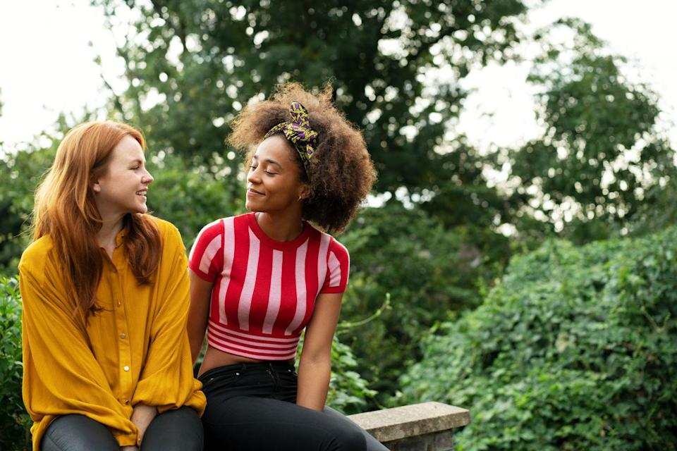 "<p>When you're talking to someone, you want them to look totally engaged. ""Open body language, like showing the palms of the hands, open eyes, lifted eyebrows, and a big genuine smile all indicate that someone is engaged and enjoying your conversation,"" says Melillo. </p>"