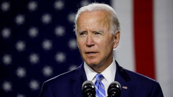 PHOTO: Joe Biden arrives to speak about modernizing infrastructure and his plans for tackling climate change during a campaign event in Wilmington, Delaware, July 14, 2020. (Leah Millis/Reuters)