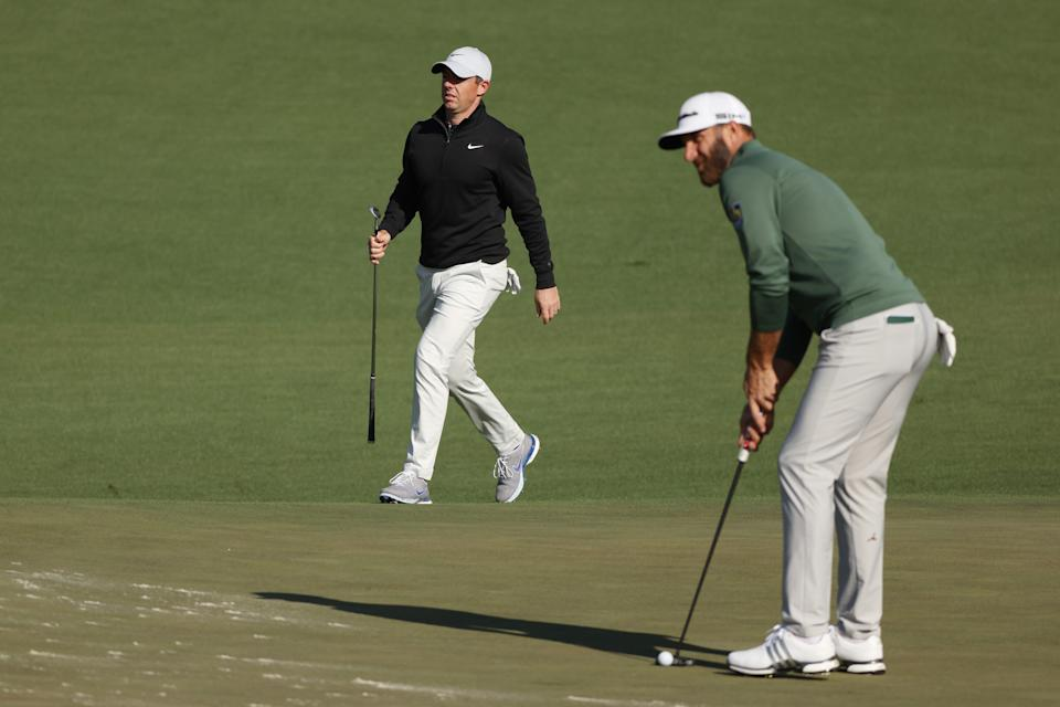 Rory McIlroy and Dustin Johnson are paired together in the first rounds of the U.S. Open. (Photo by Kevin C. Cox/Getty Images)