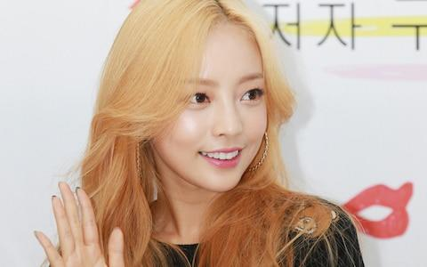 The South Korean singer and actress Goo Hara was found dead in her home this week - Credit: ilgan Sports