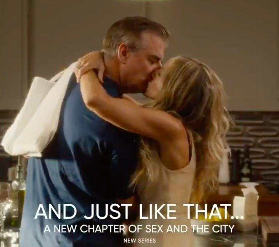 And Just Like That... a new chapter of Sex and the City with Big and Carrie kissing
