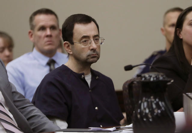 After decades of abuse by former team doctor Larry Nassar, USA Gymnastics has offered a settlement to hundreds of survivors. (AP/Carlos Osorio)