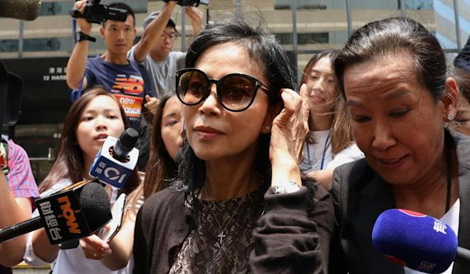 Businesswoman Cheyenne Chan (centre), former director of Helicopters Hong Kong, was found not guilty of bribery in the case involving her former lover Wilson Fung. Photo: Nora Tam
