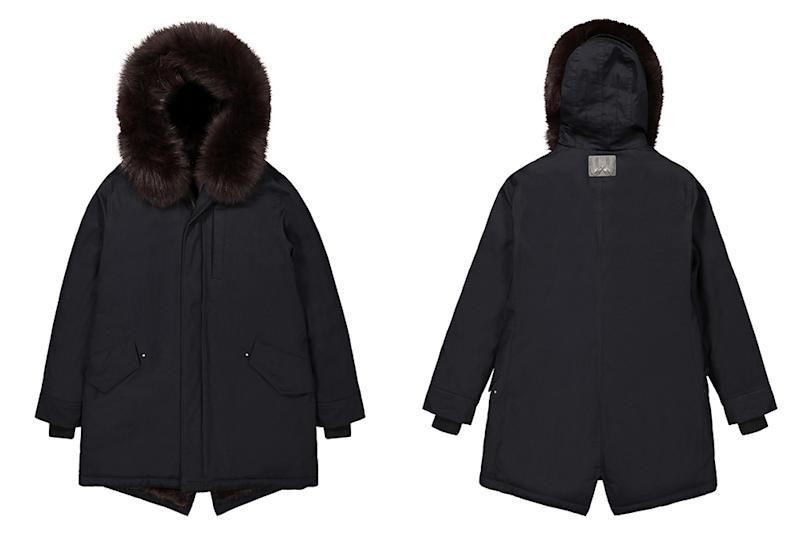 True Outliers parkas feature ethically sourced mink fur liners for the ultimate in warmth.