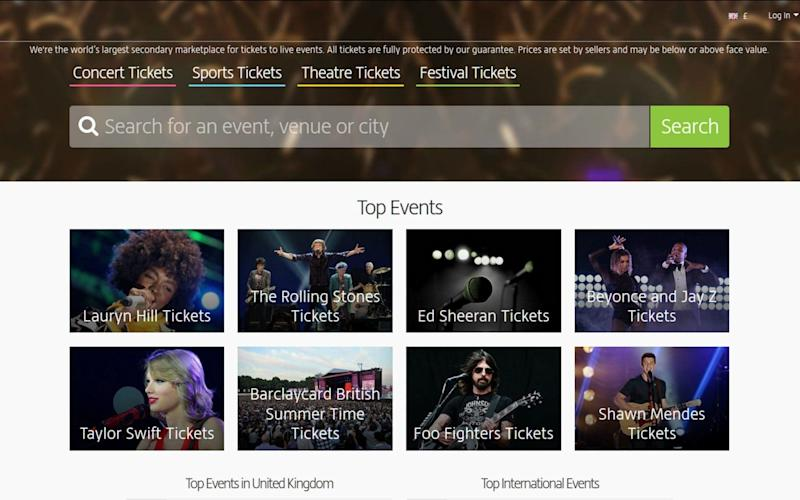 Viagogo has been banned from advertising on Google - PA
