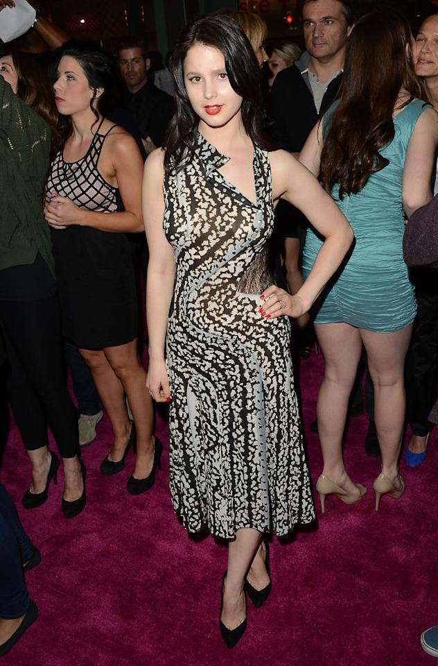 "Rachel Korine attends the ""Spring Breakers"" premiere at ArcLight Cinemas on March 14, 2013 in Hollywood, California."