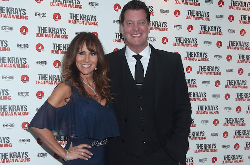 Linda Lusardi and her husband Sam Kane have both had coronavirus. (PA)