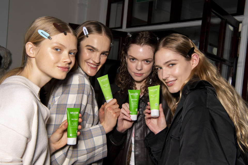 Weleda Skin Food was one of the main products used backstage at Victoria Beckham's AW20 show. (Weleda)
