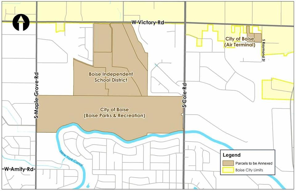 The Murgoitio parcel is the segment owned by the city of Boise. An annexation proposed in June would include the 160 acres of Murgoitio land, the bordering Boise School District land and a small piece of airport property that lies outside city limits. Later, city officials began to consider broadening the annexation to include more than 10 square miles of Southwest Boise.